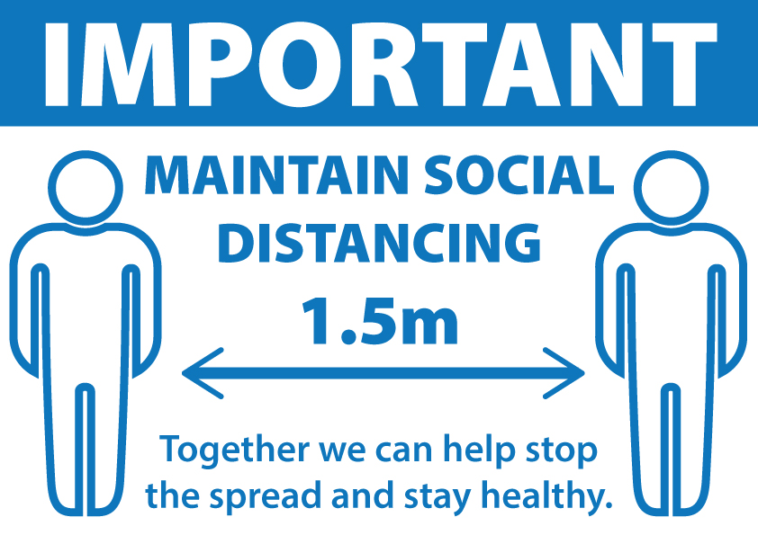 Covid Sticker - Social Distancing